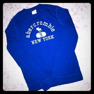 🆕EUC ABERCROMBIE KIDS ROYAL BLUE SWEATSHIRT